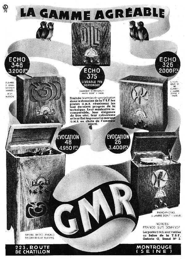 Publicités GMR