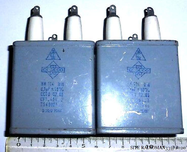 2 condensateurs au papier huile 01 f nos tservice