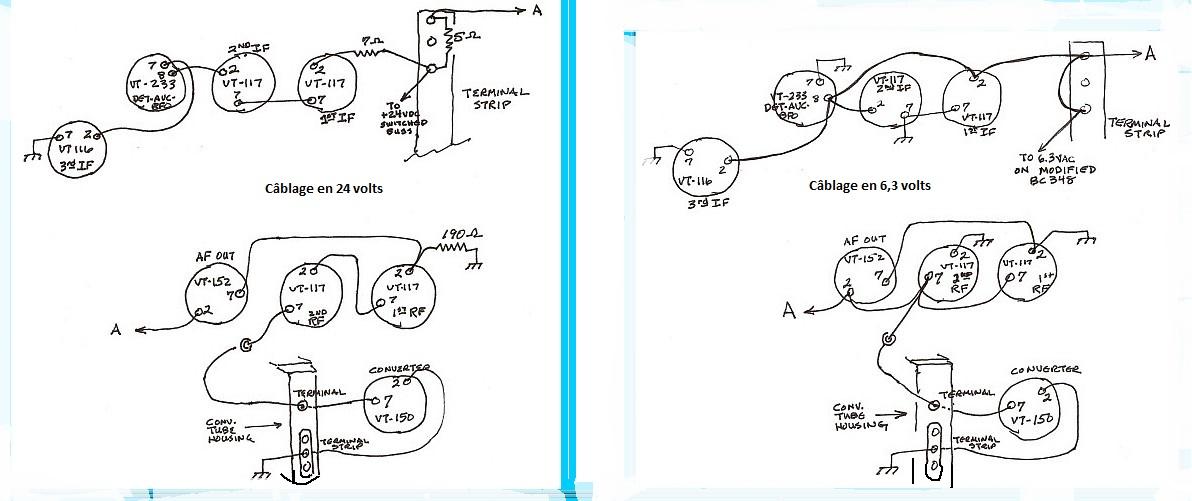 Cablage filaments bc348 1