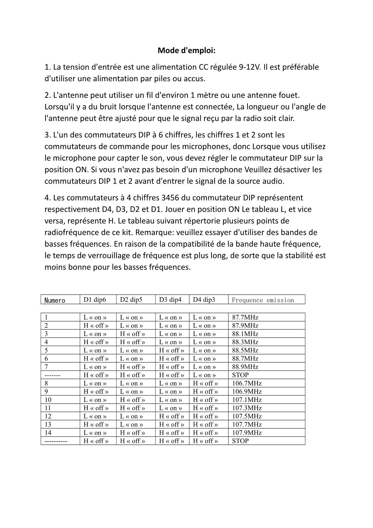 Emetteur fm bh1417f a frequences prereglees 2