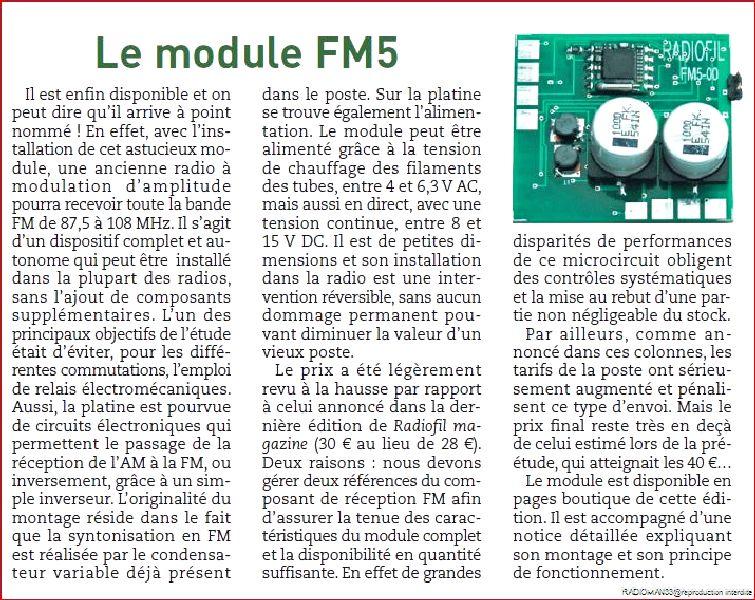 Le module fm5