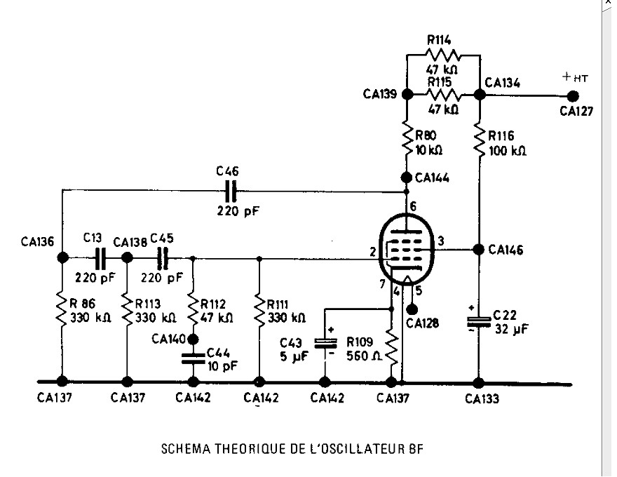 Oscillateur bf